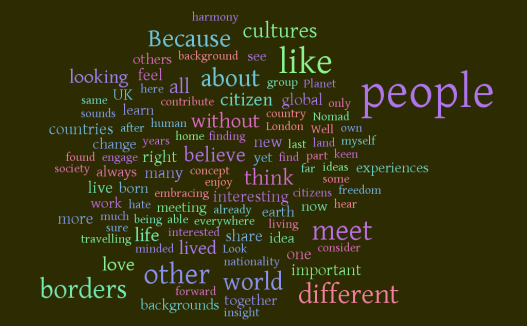 Citizen without Borders word cloud